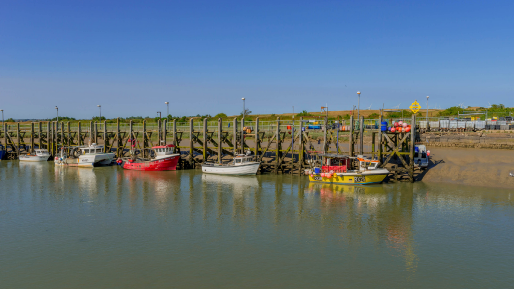 Fishing boats in Rye Harbour
