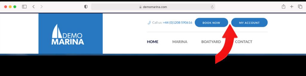 Marina website action buttons