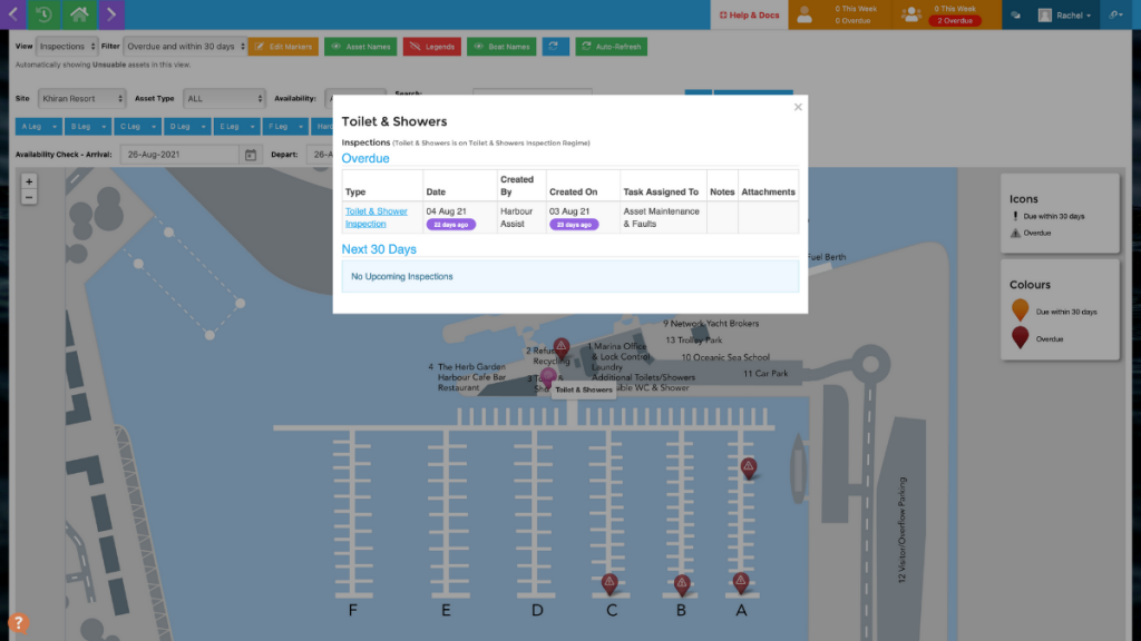 Harbour Assist map inspections view
