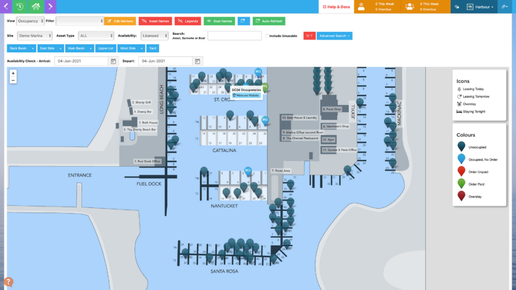 Harbour Assist map occupancy view